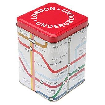 QUO Bote metálico cuadrado metro Londres 1 unidad