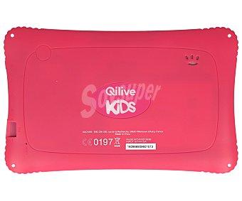 "Qilive Tablets con pantalla de 7"" especial para niños qilive Q7 M75Q1, rosa, procesador: Quad Core, Ram: 1GB, almacenamiento: 8GB ampliable mediante tarjeta microsd, resolución: 800 x 480px, cámara frontal, Android 5.1 7.0 wifi Q7 for kids"