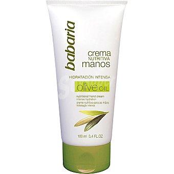 BABARIA crema de manos nutritiva de oliva hidratación intensa  tubo 100 ml