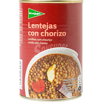 Aliada Lentejas con chorizo Lata 400 gramos