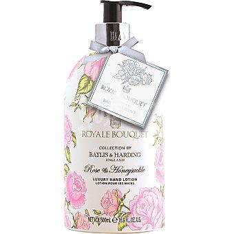 BAYLIS & HARDING Royale Bouquet loción para las manos Rosa y Madreselva dosificador  500 ml