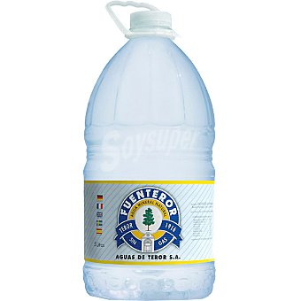 FUENTEROR Agua mineral natural sin gas garrafa 5 l