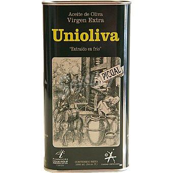 UNIOLIVA aceite de oliva virgen extra picual  lata 1 l