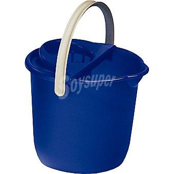 Hipercor Cubo con escurridor azul redondo 12 l envase 1 unidad 12 l
