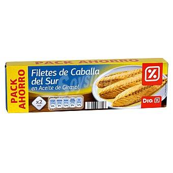DIA Filetes de caballa en aceite de girasol Pack 2 latas 126 gr