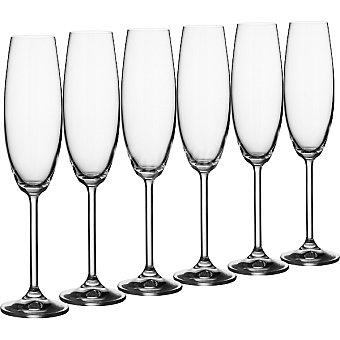 CASACTUAL Bohemia Copas de Flauta de cristal 23 cl set de 6 unidades 23 cl