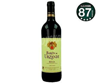 Baron de Urzande Vino tinto joven con denominación de origen Rioja barón DE urzande Botella de 75 cl