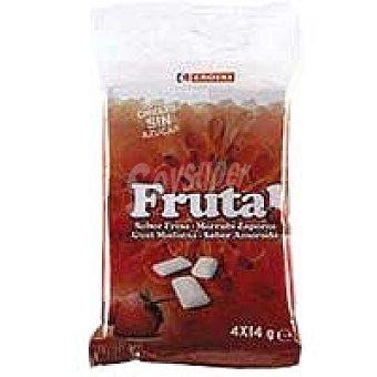 Eroski Grageas de frutal fresa sin azúcar Paquete 58,56 g