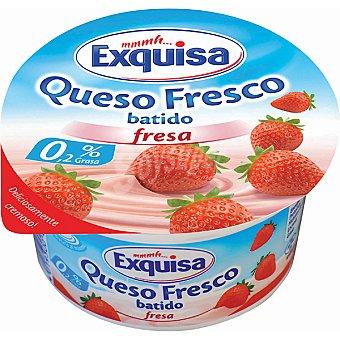 EXQUISA Quark Fresco sabor fresa 0,2% MG Tarrina 150 g