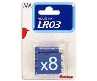 Auchan Pilas alcalinas LR03 8 unidades