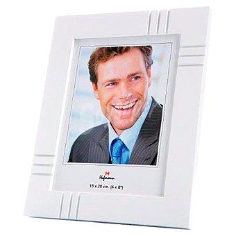 HOFMANN Portafotos de madera para foto de 10 x 15 cm en color blanco