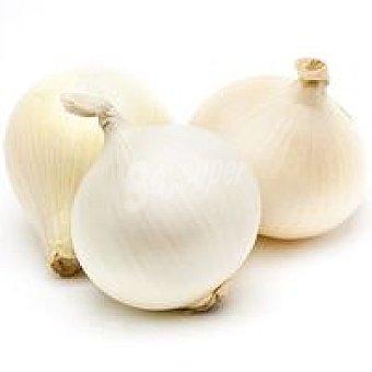 Cebolla piel blanca Bandeja 1 kg