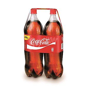 Coca-Cola Refresco de cola 2 botellas de 2 litros