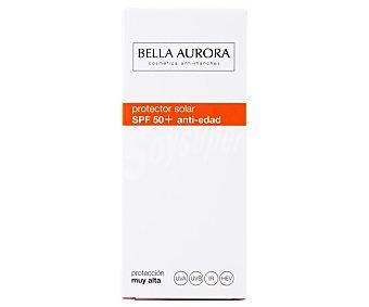 Bella Aurora Protector solar facial, con acción anti edad y anti manchas, y factor de protección 50+ (muy alto)