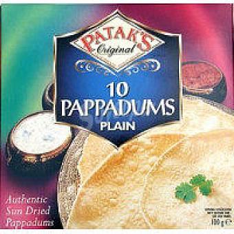 Patak's Pappadums natural Paquete 100 g