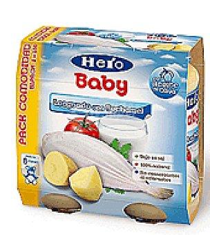 Hero Baby Tarrito legunado con crema de bechamel Pack de 2x250 g
