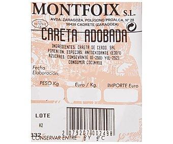 MONTFOIX Careta de cerdo 800 Gramos
