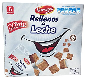 Harrisons Cereal relleno leche mini Caja 5 u
