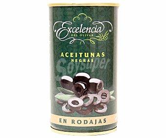 Excelencia Aceitunas negras en rodajas 175 Gramos