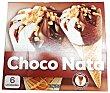 Helado cono chocolate y nata Caja 6 u x 74 g (444 g) Hacendado