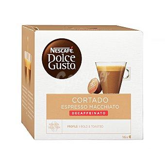 Dolce Gusto Nescafé Café espresso cortado descafeinado Estuche 16 cápsulas