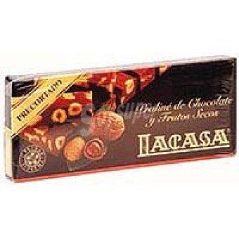 Lacasa Turrón Chocolate con Frutos Secos Precortado, tabl 200