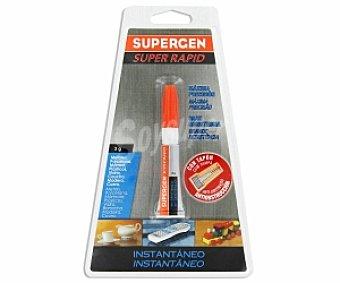 SUPERGEN Adhesivo Instantáneo Transparente Super Rápido de última Generación. 3 Gramos 1 Unidad