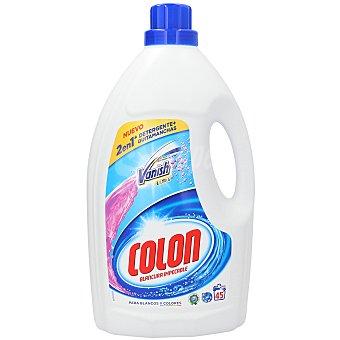 Colón Detergente máquina líquido + quitamanchas vanish 2 en 1 Garrafa 45 lavados