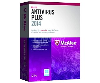 McAfee Antivirus Antivirus Plus 2014 1 PC
