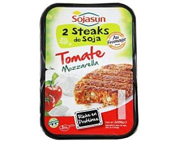 Sojasun Hamburguesas de soja con tomate y mozzarella 2 Unidades de 100 Gramos