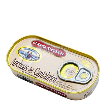 Costera Filetes de anchoa 1/8 aceite de oliva 48 g