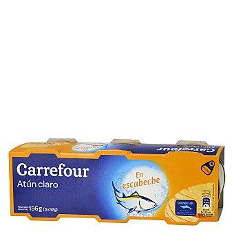 Carrefour Atún claro en escabeche Pack de 3x52 g