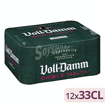Voll-Damm Cerveza Voll Damm doble malta Pack de 12 latas de 33 cl