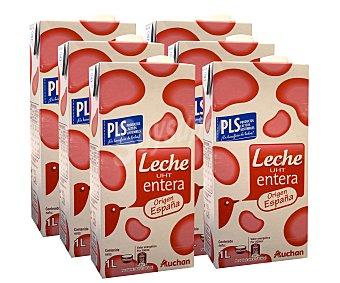 Auchan Leche Entera 6x1litro
