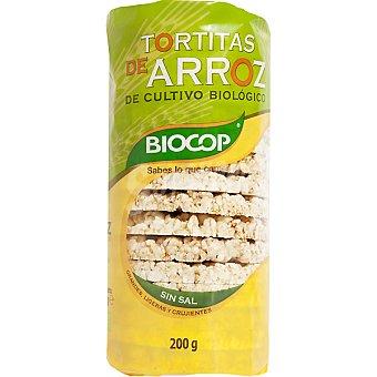 BIOCOP Tortitas de arroz integral biológicas sin sal Bolsa 200 g