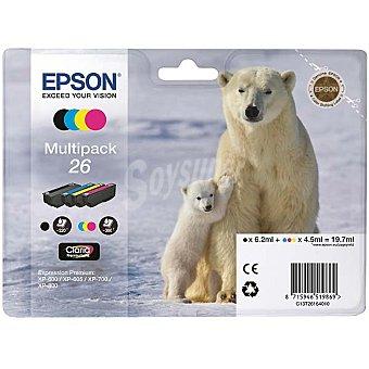 Epson Nº 26 cartucho de tinta multipack cuatricolor
