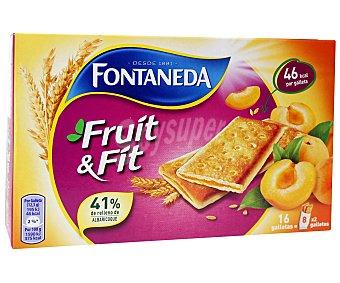 FRUIT&FIT de FONTANEDA Galletas crujientes rellenas de albaricoque 197 gramos