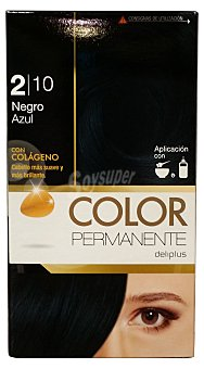 Deliplus Tinte coloracion permanente Nº 2.10 negro azulado (contiene colageno para hidratar) u