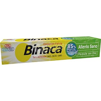 Binaca Pasta dentífrica Triple Acción aliento sano Tubo 75 ml