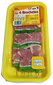 Jovi Brochetas pollo fresco Bandeja 345 g (4 unidades)