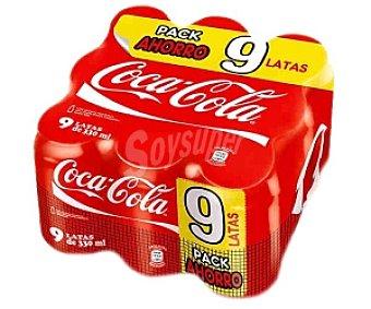 Coca-Cola Refresco de Cola Pack 9 Latas de 33 Centilitros