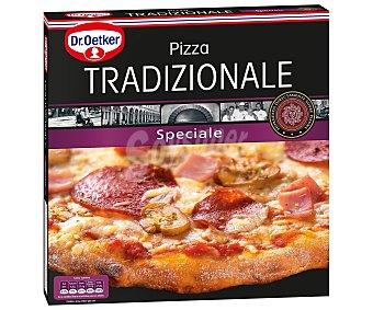 DR. OETKER TRADIZIONALE Speciale pizza con salami jamon champiñones queso y tomate  estuche 345 g