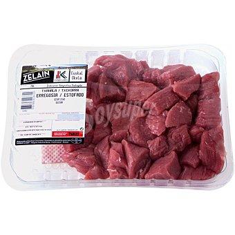 Harakai Label Vasco añojo carne magra troceada para guisar peso aproximado IGP Carne de Vacuno del País Vasco Euskal Okela Bandeja 600 g