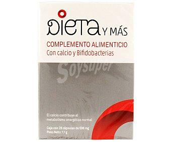 DIETA Y MÁS Complemento alimenticio con calcio y bifidobacterias 28 c
