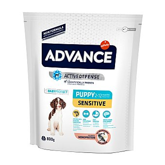 Advance Affinity Pienso para perros pequeños, medianos y grandes Advance Puppy Sensitive salmón y arroz 800 gr