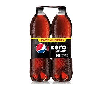 Pepsi Refresco de cola zero Pack de 2 botellas de 2 litros
