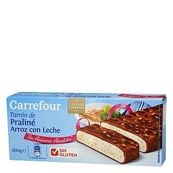 Carrefour Turrón praliné arroz con leche 200 g