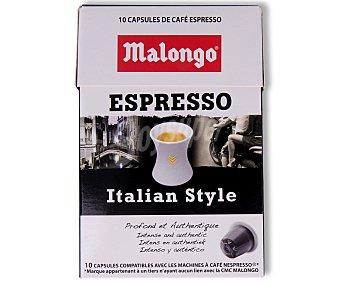 Malongo Café italiano en monodosis 12 unidades 52 gramos