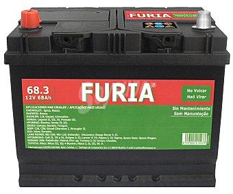 FURIA Batería de automóvil de 12v y 68Ah, con potencia de arranque de 720 Amperios 1 unidad