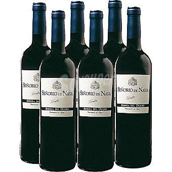 Señorio de Nava vino tinto joven caja 6 botella 75 cl